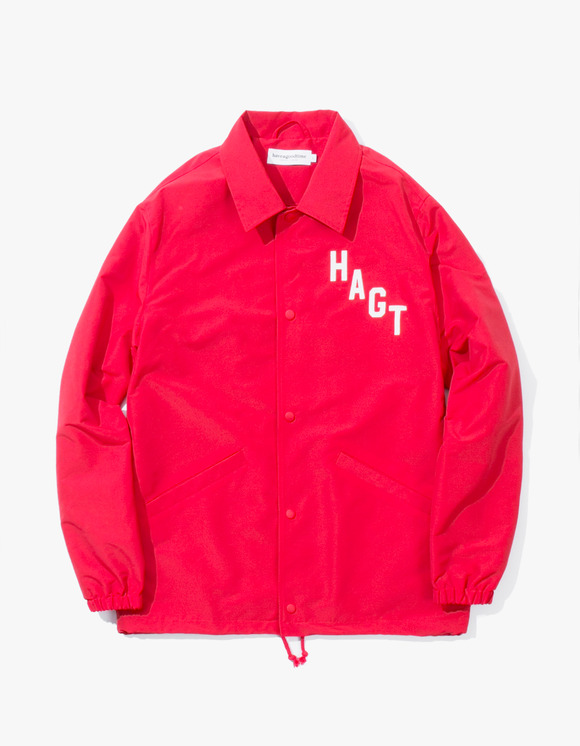 have a good time Arch Logo Coach Jacket - Red | HEIGHTS. | 하이츠 온라인 스토어