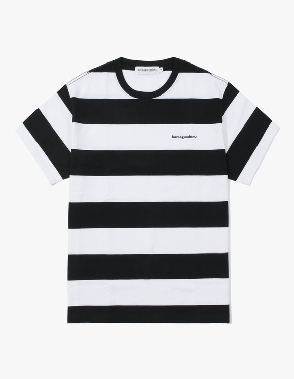 have a good time Stripe S/S Tee - Black | HEIGHTS. | 하이츠 온라인 스토어