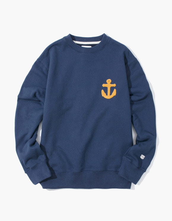IZOLA NYC Anchor Crewneck - Navy | HEIGHTS. | 하이츠 온라인 스토어