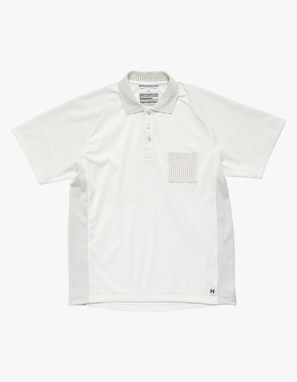 Heritage Floss HFC Cricket Polo Shirts - Ivory | HEIGHTS. | 하이츠 온라인 스토어