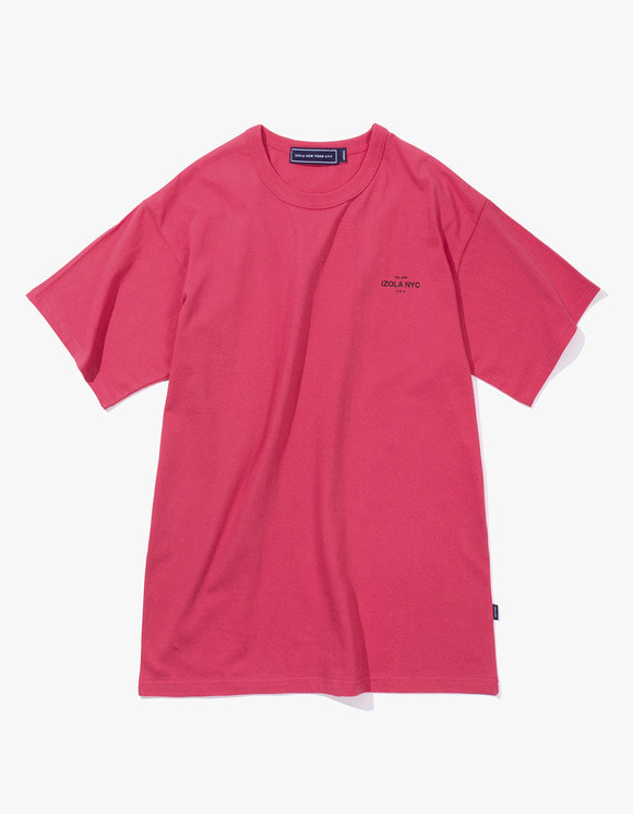 IZOLA NYC Est. S/S Tee - Rose Pink | HEIGHTS. | 하이츠 온라인 스토어