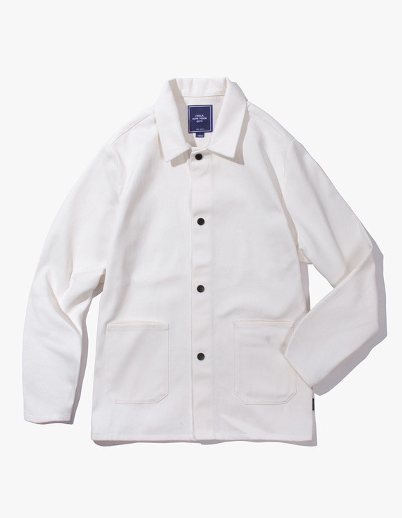 IZOLA NYC Cotton Twill Shop Jacket - Natural | HEIGHTS. | 하이츠 온라인 스토어