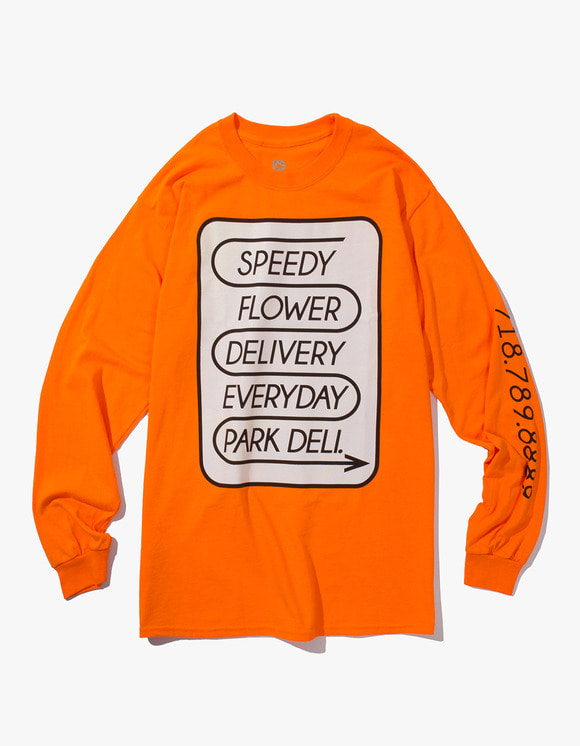 PARK DELI Speedy L/S Tee - Safty Orange | HEIGHTS. | 하이츠 온라인 스토어