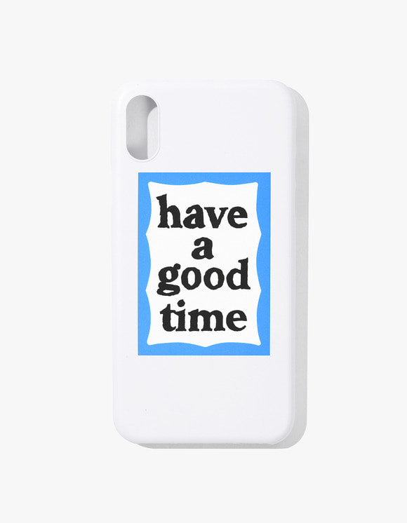have a good time Blue Frame iphone Case X - White | HEIGHTS. Online Store
