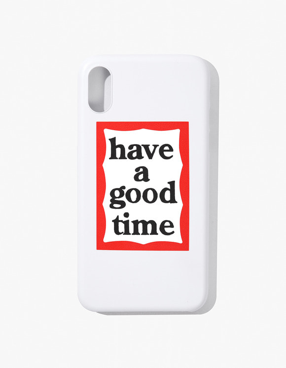 have a good time Frame Iphone Case for Iphone X - White | HEIGHTS. | 하이츠 온라인 스토어