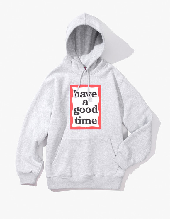 have a good time Frame Pullover Hoodie - Heather Grey | HEIGHTS. | 하이츠 온라인 스토어