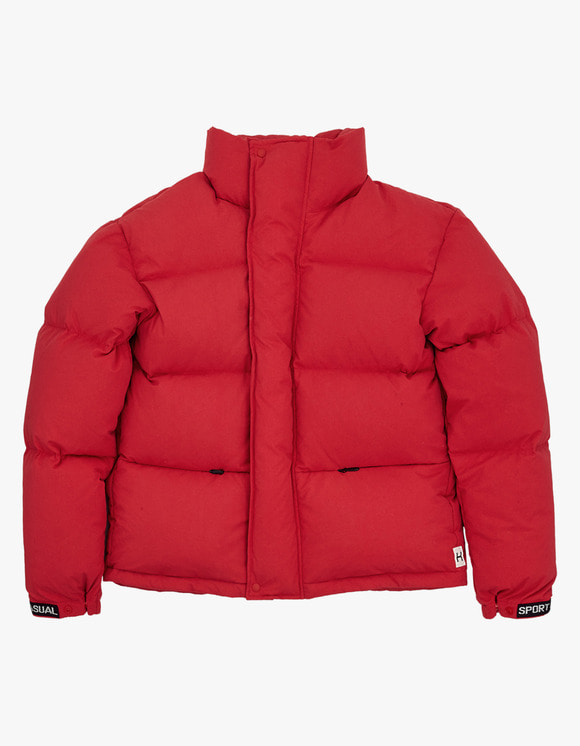 Heritage Floss 700 Puffy Goose Down Jacket - Red | HEIGHTS. | 하이츠 온라인 스토어