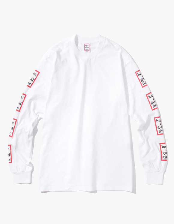 have a good time Arm Frame L/S Tee - White | HEIGHTS. | 하이츠 온라인 스토어