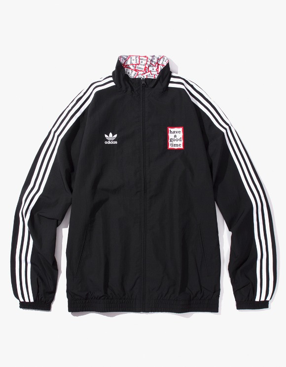have a good time HAGT X ADIDAS Reversible Track Top - Black | HEIGHTS. Online Store