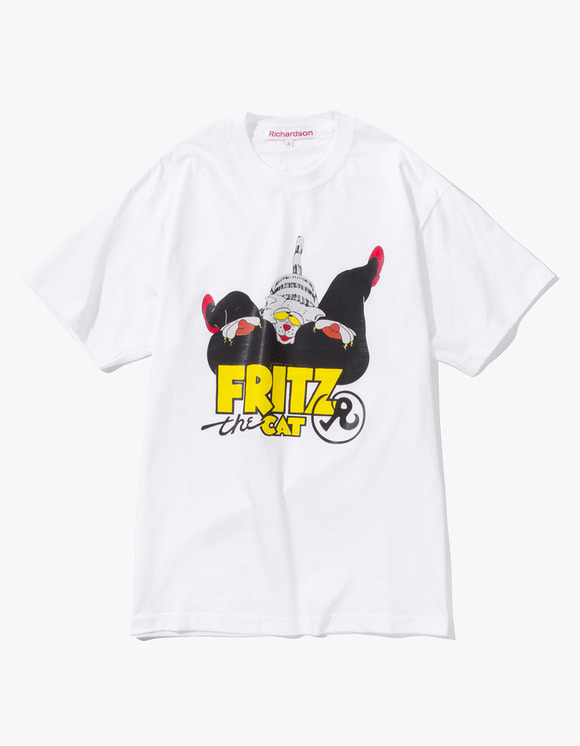 Richardson Fritz  the Cat Love T-Shirt - White | HEIGHTS. | 하이츠 온라인 스토어