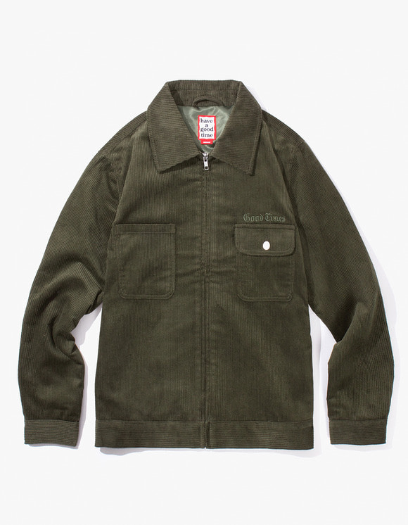 have a good time Good Times Corduroy Jacket - Dark Green | HEIGHTS. | 하이츠 온라인 스토어