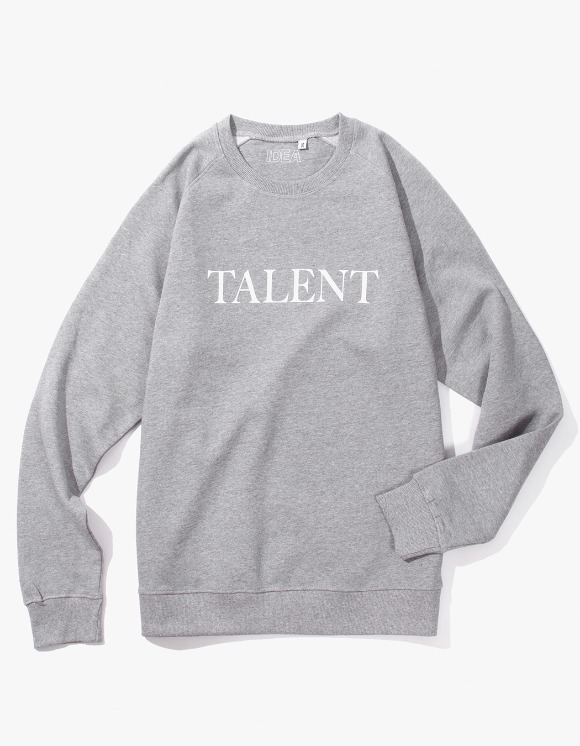 IDEA Talent Crewneck - Grey | HEIGHTS. | 하이츠 온라인 스토어