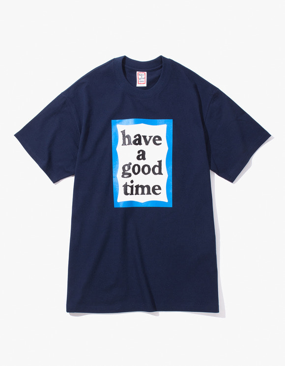 have a good time Blue Frame S/S Tee - Navy | HEIGHTS. | 하이츠 온라인 스토어