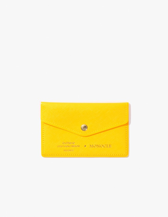 Monocle Delfonics x Monocle Cardholder - Yellow | HEIGHTS. Online Store