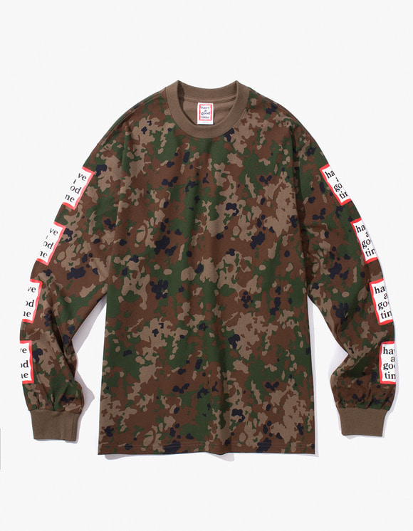 have a good time Arm Frame L/S Tee - Camo | HEIGHTS. | 하이츠 온라인 스토어