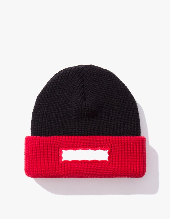 have a good time Side Frame 2 Tone Beanie - Black/Red | HEIGHTS. | 하이츠 온라인 스토어