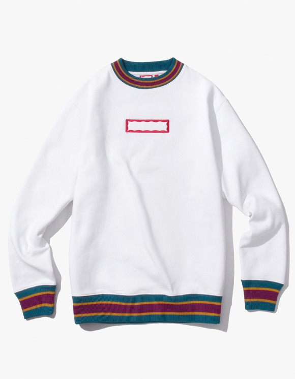 have a good time Color Rib Crewneck - White | HEIGHTS. | 하이츠 온라인 스토어