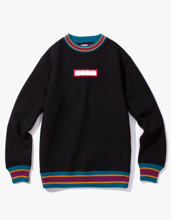 have a good time Color Rib Crewneck - Black | HEIGHTS. | 하이츠 온라인 스토어