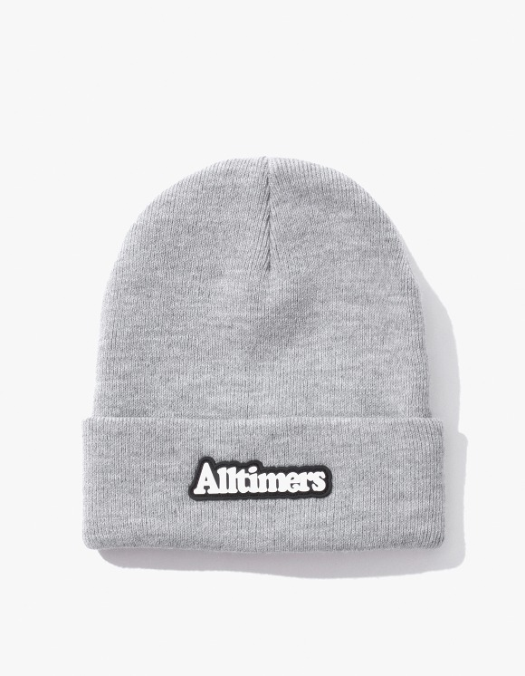 Alltimers Brodway Rubber Beanie - Heather Grey | HEIGHTS. | 하이츠 온라인 스토어