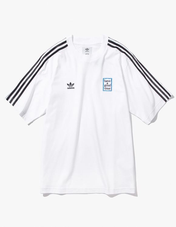 have a good time HAGT X ADIDAS S/S Tee - White | HEIGHTS. | 하이츠 온라인 스토어
