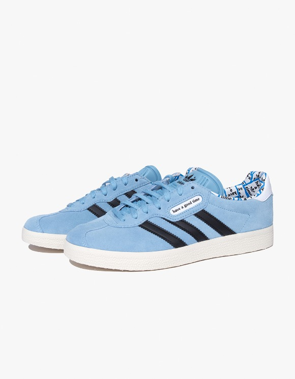 have a good time HAGT x ADIDAS Gazelle Super - Blue | HEIGHTS. Online Store
