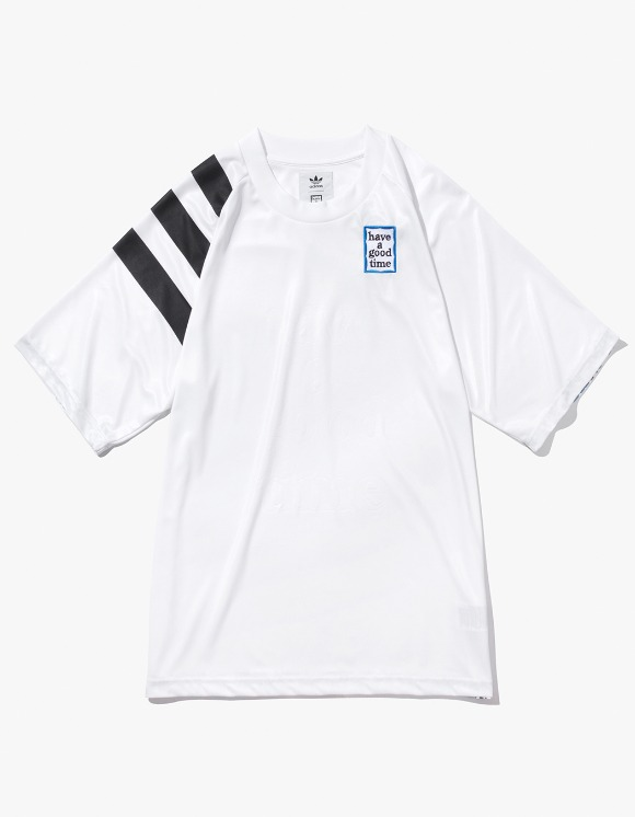 have a good time HAGT X ADIDAS Game Jersey - White | HEIGHTS. | 하이츠 온라인 스토어