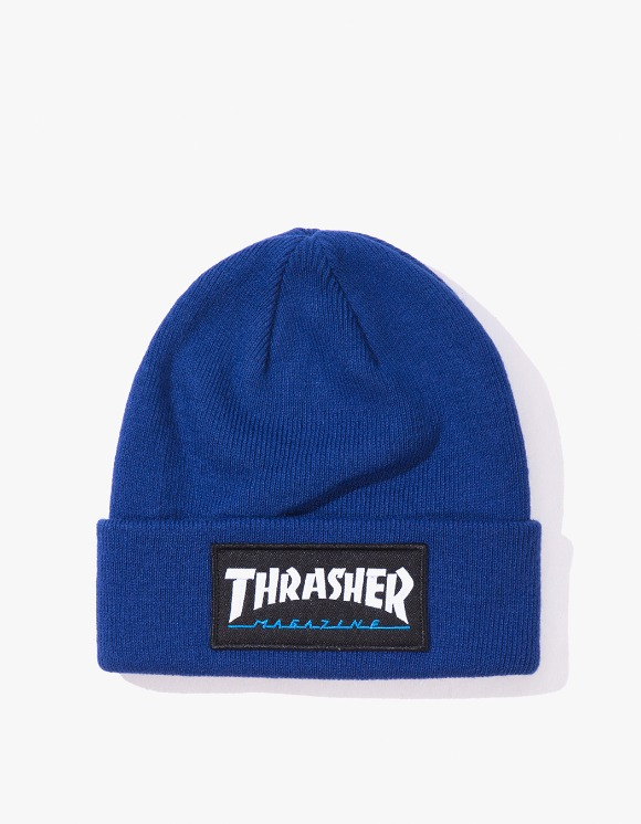 Thrasher Logo Patch Beanie - Navy Blue | HEIGHTS. | 하이츠 온라인 스토어