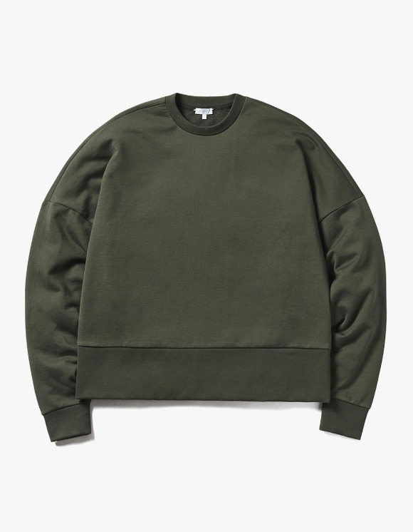 AECA WHITE Powell Oversize Sweatshirt - Khaki | HEIGHTS. | 하이츠 온라인 스토어