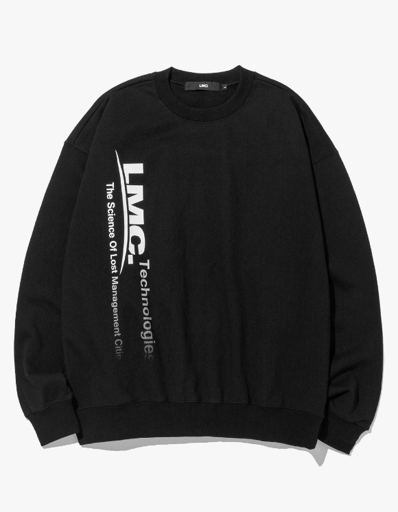 LMC LMC TECH FADEOUT OVERSIZED SWEATSHIRT black | HEIGHTS. | 하이츠 온라인 스토어