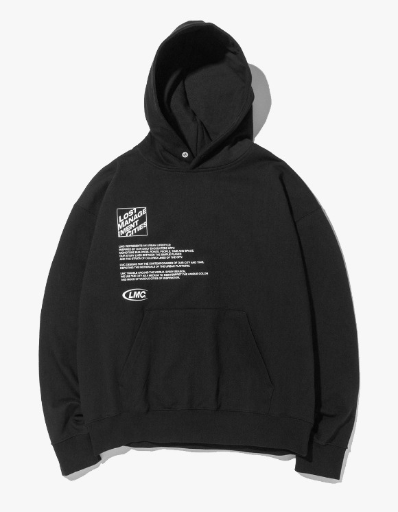 LMC LMC SQUARE FN OVERSIZED HOODIE black | HEIGHTS. | 하이츠 온라인 스토어