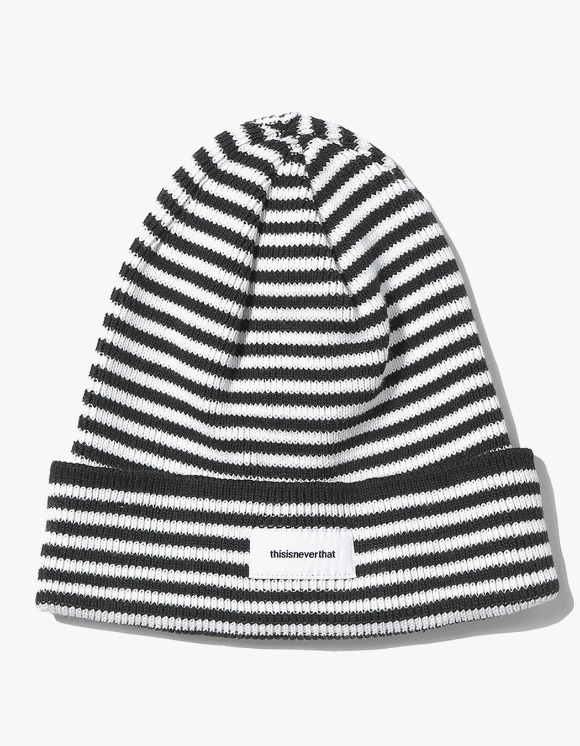 thisisneverthat Striped Beanie - White | HEIGHTS. Online Store
