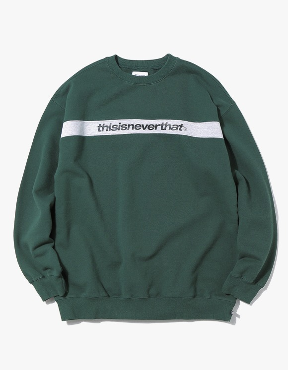 thisisneverthat Striped SP Crewneck - Forest | HEIGHTS. Online Store