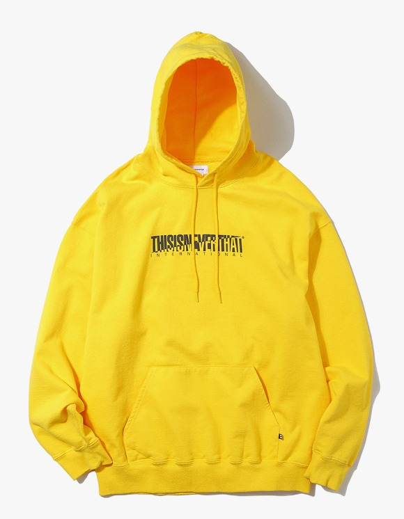 thisisneverthat CP-INTL. Hooded Sweatshirt - Yellow | HEIGHTS. Online Store