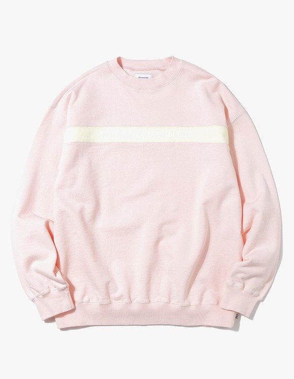 thisisneverthat Striped SP Crewneck - Light Pink | HEIGHTS. Online Store
