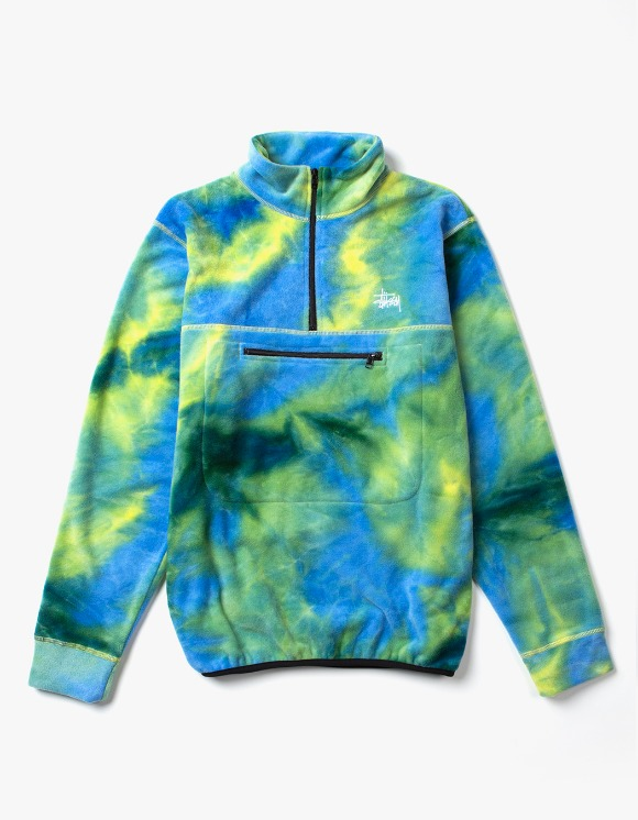 Stussy Polar Fleece Mock Neck - Tie Dye | HEIGHTS. | 하이츠 온라인 스토어