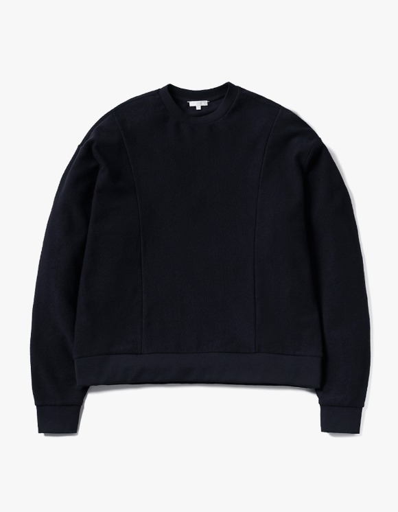 AECA WHITE Embient Block Oversize Sweat - Deep Navy | HEIGHTS. | 하이츠 온라인 스토어