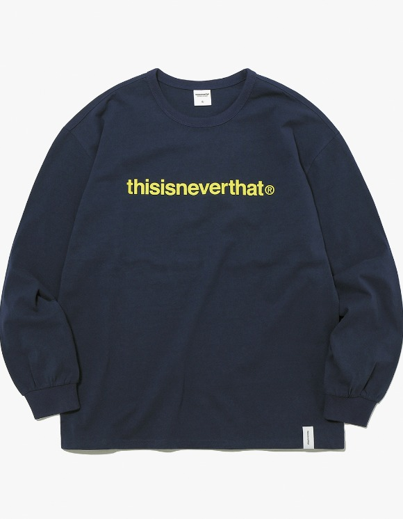 thisisneverthat T-Logo L/SL Top - Navy | HEIGHTS. | 하이츠 온라인 스토어