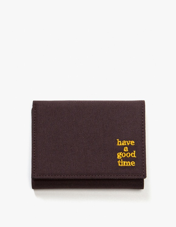 have a good time Logo Wallet - Chocolate | HEIGHTS. | 하이츠 온라인 스토어