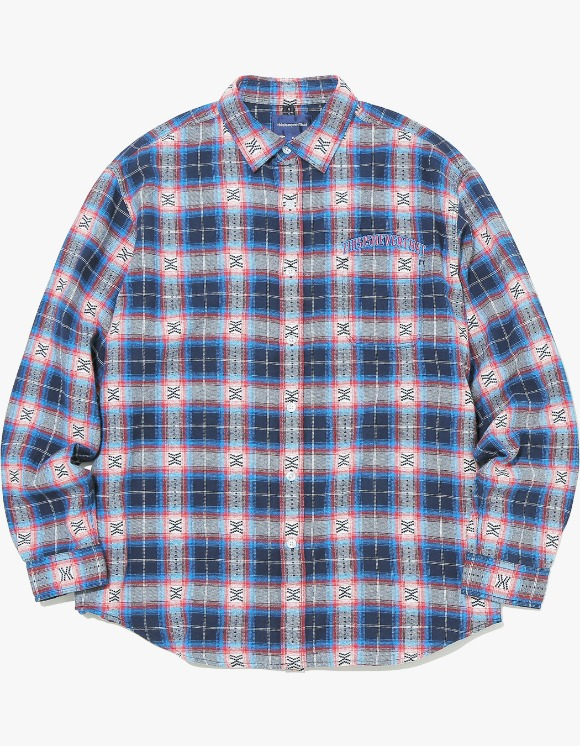 thisisneverthat ARC-Logo African Check Shirt - Blue | HEIGHTS. | 하이츠 온라인 스토어