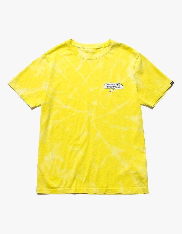 Vans HEIGHTS. X HOV Bleached S/S Tee - Yellow | HEIGHTS. | 하이츠 온라인 스토어