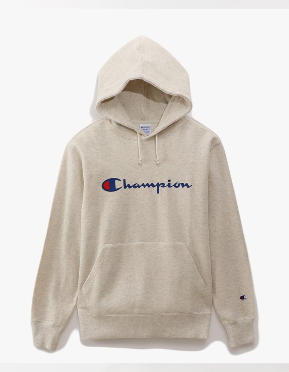 Champion Logo Pullover Hoodie - Oatmeal | HEIGHTS. | 하이츠 온라인 스토어