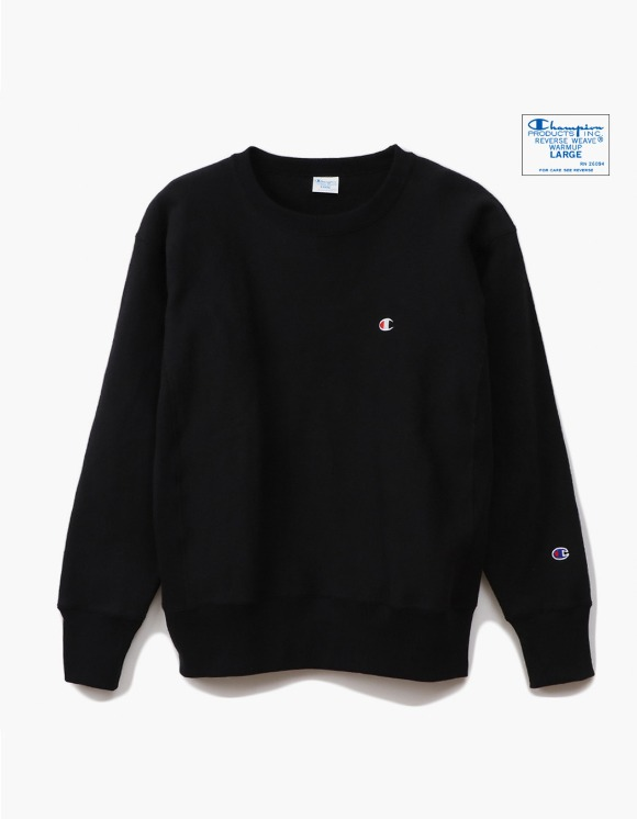 Champion Reverse Weave®11.5OZ Blue Tag Big Silhouette Crewneck - Black | HEIGHTS. | 하이츠 온라인 스토어
