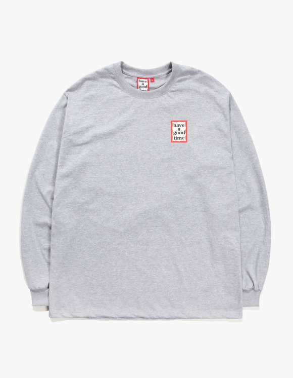 have a good time Mini Frame L/S Tee - Heather Grey | HEIGHTS. | 하이츠 온라인 스토어