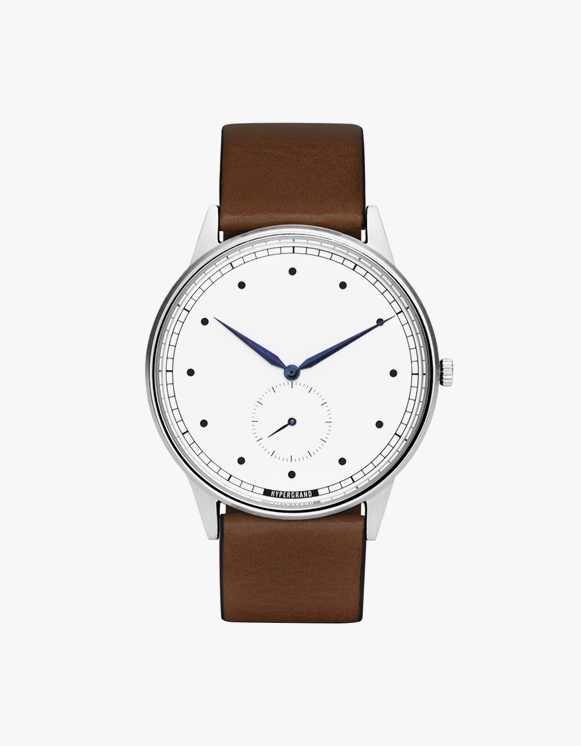 HYPERGRAND Signature Silver White - Brown Leather Classic | HEIGHTS. | 하이츠 온라인 스토어