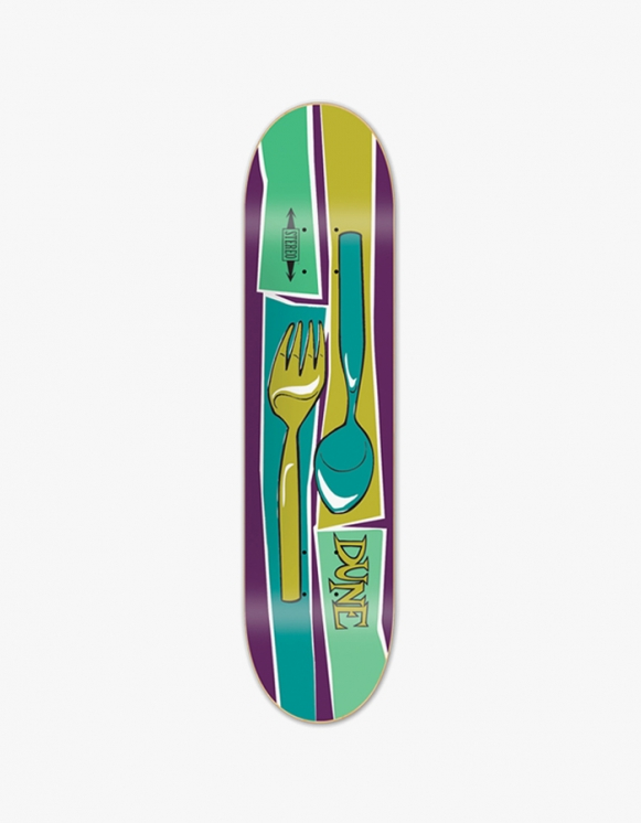 "Stereo Skateboards Chris Pastras ""Spoon & Fork"" Deck (7.75) 