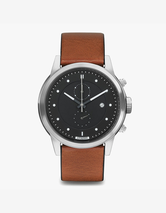 HYPERGRAND Maverick Chrono - Silver Black Honey Leather Classic | HEIGHTS. | 하이츠 온라인 스토어