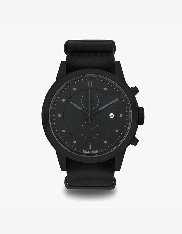HYPERGRAND Maverick Chrono - Blackout Black Leather Nato | HEIGHTS. | 하이츠 온라인 스토어