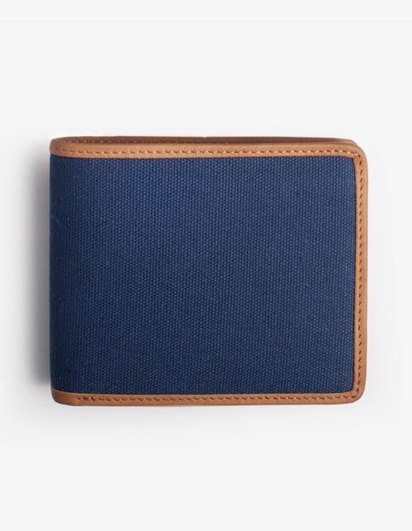 IZOLA NYC Leather-Trimmed Wallets - Navy | HEIGHTS. | 하이츠 온라인 스토어