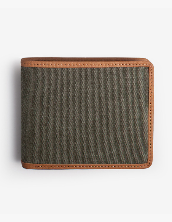IZOLA NYC Leather-Trimmed Wallets - Olive | HEIGHTS. | 하이츠 온라인 스토어
