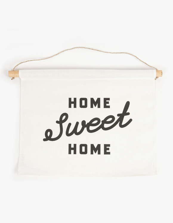 Three Potato Four Linen Banner - Home Sweet Home Script | HEIGHTS. | 하이츠 온라인 스토어